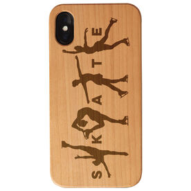 Figure Skating Engraved Wood IPhone® Case - Skate