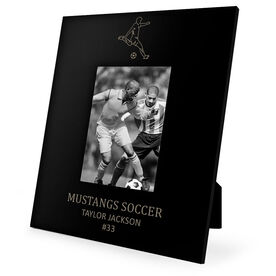 Soccer Engraved Picture Frame - Guy Player