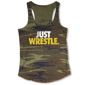 Wrestling Camouflage Racerback Tank Top - Just Wrestle