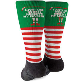 Hockey Printed Mid-Calf Socks - Hockey's My Favorite