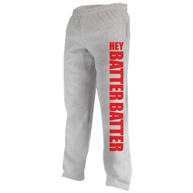 Softball Fleece Sweatpants Hey Batter Batter