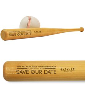Baseball Mini Engraved Bat Save Our Date