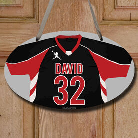 Lacrosse Oval Room Sign Personalized Lacrosse Jersey