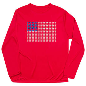 Baseball Long Sleeve Performance Tee - Patriotic Baseball