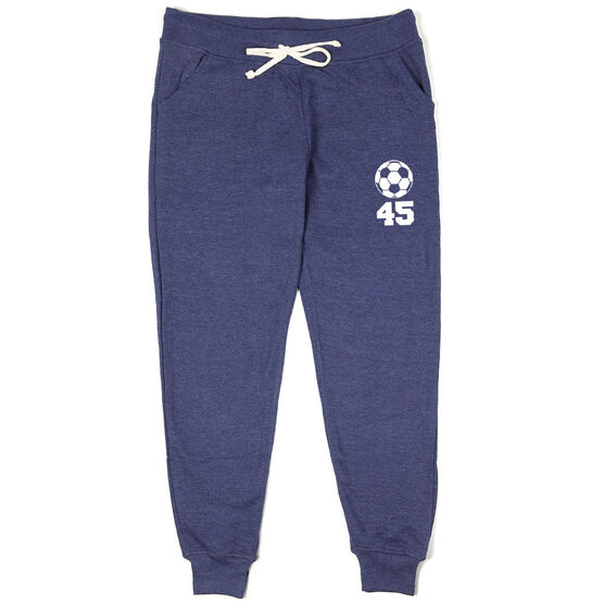 Soccer Women's Joggers - Soccer Ball With Number