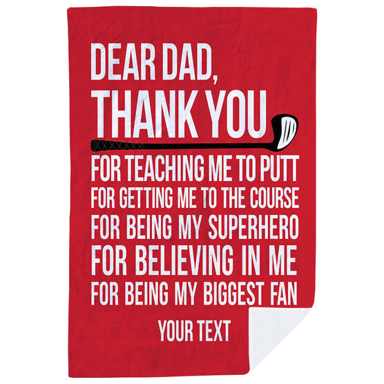 Golf Premium Blanket - Dear Dad