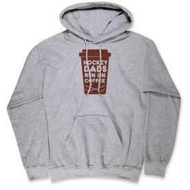 Hockey Hooded Sweatshirt - Hockey Dads Run On Coffee