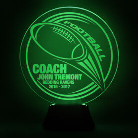 Football Acrylic LED Lamp Hail Mary Coach With 3 Lines