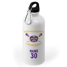20 oz. Stainless Steel Water Bottle - Oconomowoc Lacrosse Logo Name Number