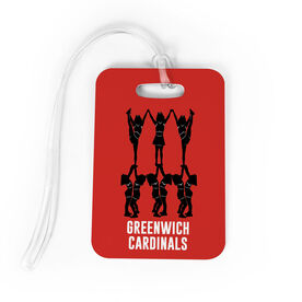 Cheerleading Bag/Luggage Tag - Cheer Pyramid with Team Name