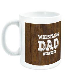 Wrestling Coffee Mug Dad With Wood Background
