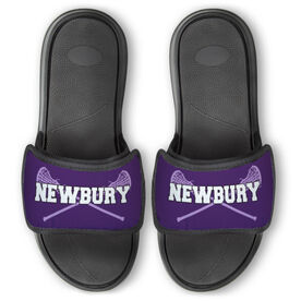 Girls Lacrosse Repwell™ Slide Sandals - Personalized with Sticks