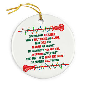 Girls Lacrosse Porcelain Ornament Players Jingle All The Way