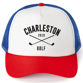 Golf Trucker Hat - Team Name With Curved Text