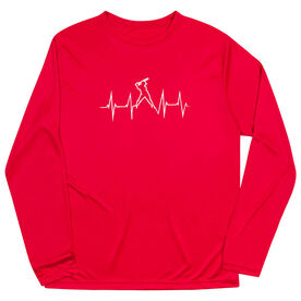 Softball Long Sleeve Performance Tee - Heartbeat Batter