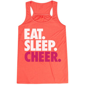 Cheerleading Flowy Racerback Tank Top - Eat Sleep Cheer