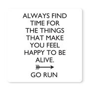 """Running 12"""" X 12"""" Removable Wall Tile - Always Find The Time"""
