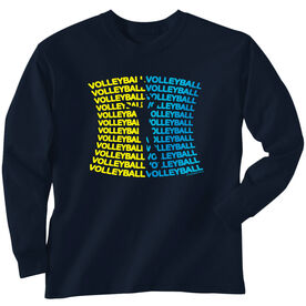 Volleyball Tshirt Long Sleeve All Volleyball