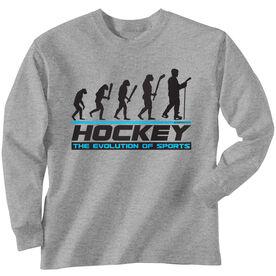 Hockey Tshirt Long Sleeve Hockey Evolution