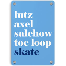 Figure Skating Metal Wall Art Panel - Skate Mantra