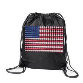 Baseball Sport Pack Cinch Sack Patriotic Baseball