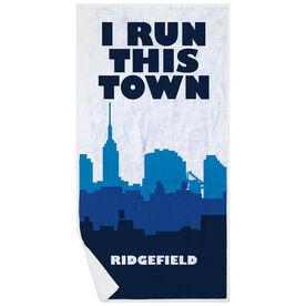Running Premium Beach Towel - I Run This Town