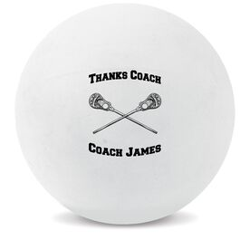 Personalized Thanks Coach Lacrosse Ball (White Ball)