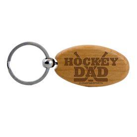 Hockey Dad Maple Key Chain