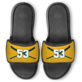 Softball Repwell™ Slide Sandals - Crossed Bats with Numbers