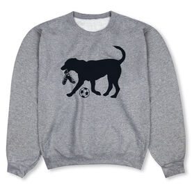 Soccer Crew Neck Sweatshirt - Spot The Soccer Dog