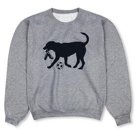 Soccer Crew Neck Sweatshirt - Spot The Soccer Dog