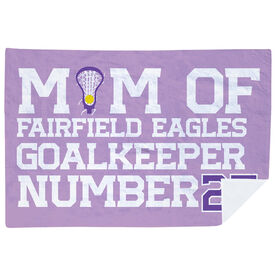 Girls Lacrosse Premium Blanket - Personalized Lacrosse Mom