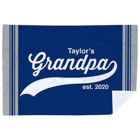 Personalized Premium Blanket - Rocking Being A Grandpa