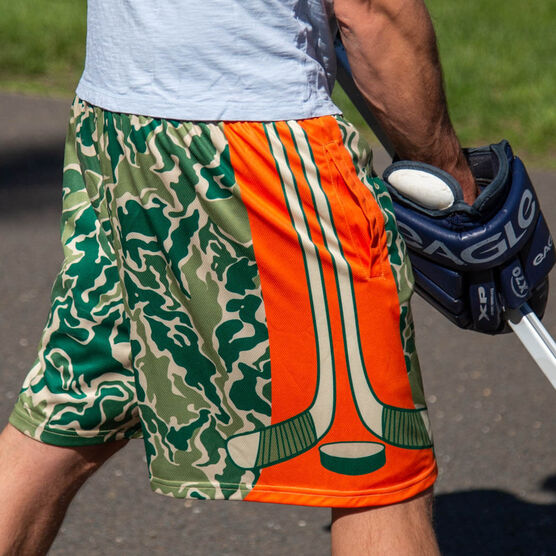 Hunter Camo Hockey Shorts