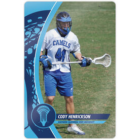 "Guys Lacrosse 18"" X 12"" Aluminum Room Sign - Player Photo"