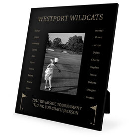 Golf Engraved Picture Frame - Team Name With Roster