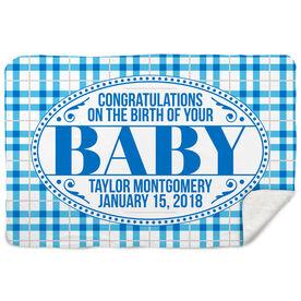 Sherpa Fleece Blanket - Congrats Baby
