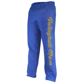 Volleyball Fleece Sweatpants Volleyball Mom with Volleyball