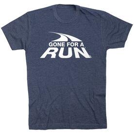 Running Short Sleeve T- Shirt - Gone For a Run White Logo