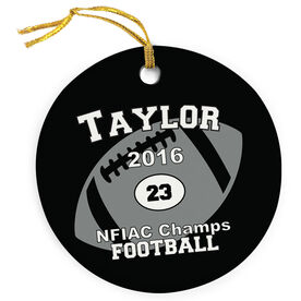 Football Porcelain Ornament Custom Football Team