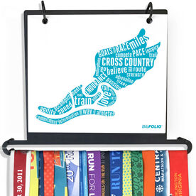 BibFOLIO+™ Race Bib and Medal Display - Inspirational Words Winged Foot