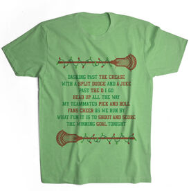 Guys Lacrosse Short Sleeve Tee - Jingle All The Way