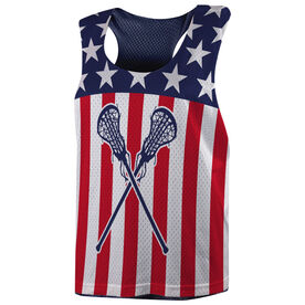 Girls Lacrosse Racerback Pinnie - USA Lax Girl