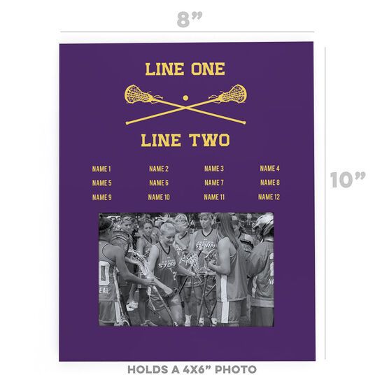 Girls Lacrosse Photo Frame - Team Roster