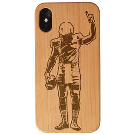Football Engraved Wood IPhone® Case - Number One Player