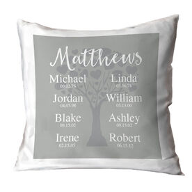 Personalized Throw Pillow - Family Togetherness