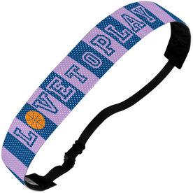 Basketball Juliband No-Slip Headband - Love To Play
