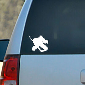 Vinyl Car Decal Hockey Goalie Regular