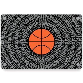 Basketball Metal Wall Art Panel - Mantra Spiral