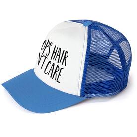 Basketball Trucker Hat - Hoops Hair Don't Care
